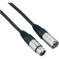 XLR kabel, XLR(F)/XLR(M), 6 m, černá