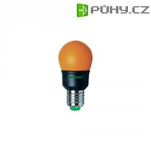 Úsporná žárovka kulatá MegamanParty Color E27, 7 W, oranžová