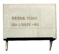 10n/1500V TC343, svitkový kondenzátor impulsní, RM=22mm