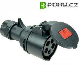 CEE zásuvka na kabel 225-6x PCE, 32 A, IP44, černá