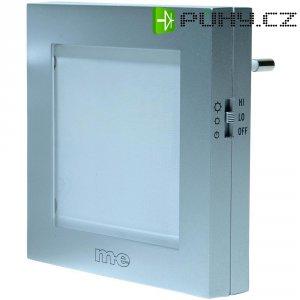Zásuvkové LED noční osvětlení 1 W, barva světla bílá, stříbrná