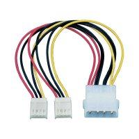 PC napájecí kabel, 2x floppy zásuvka ⇔ IDE zástrčka, 0,15 m