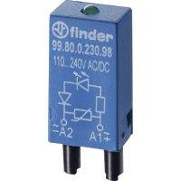 Zasouvací modul s diodou 1 ks Finder 99.80.9.024.99 barva světla: zelená Vhodné pro sérii: Finder řada 95