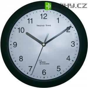 Analogové DCF nástěnné hodiny, 56785, Ø 25 x 3,8 cm, černá