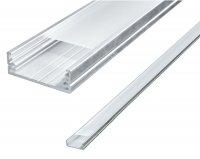 AL profil pro LED + plexi k přisazení pro více pásků, délka 2m