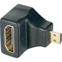 Adaptér HDMI Micro-D zástrčka/zásuvka, 90°