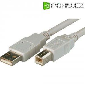 Kabel USB 2.0, A/B, 1m, šedý, Digitus