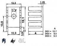 Chladič TO220 D2 13x19x10mm