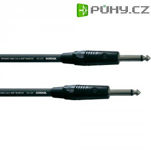 Cordial® CLS 225, 2x 2,5 mm² černá Cordial CPL 1,5 PP, [1x jack zástrčka 6,3 mm - 1x jack zástrčka 6,3 mm], 1.5 m, černá