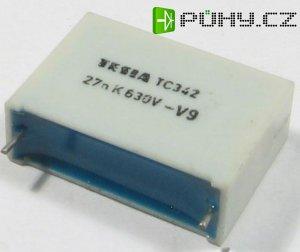 27n/630V TC342, svitkový kondenzátor impulsní