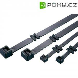 Stahovací pásek CFT-serie s otočnými zámky HellermannTyton CTF12090-PA66-BK-C1, černá