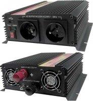 Měnič 24V/230V+USB 1000W,modifikovaná sinus, nefunkční