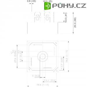 Dioda/usměrňovač IR 26MB120A, U(RRM) 1200 V, U(FM) 1,1 V, I(F) 25 A, D-34A