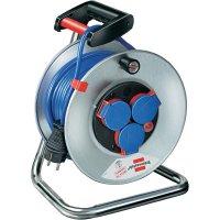 Kabelový buben Brennenstuhl Garant S240, 1199850, 3 zásuvky, 25 m, modrá