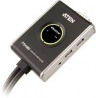 KVM switch Aten pro USB a DVI Grafik s přenosem zvuku, 2-portový