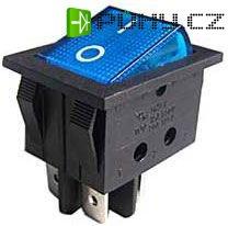 Vypínač kolébkový ON-OFF 2pol.250V/15A modrý