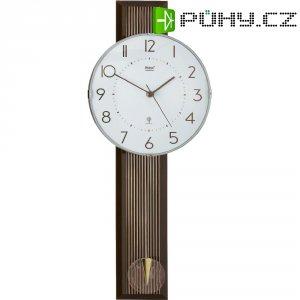 DCF kyvadlové hodiny - pendlovky, 55248, 22 x 54,5 x 7 cm, antracit, hnědá/stříbrná