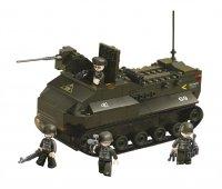 Stavebnice SLUBAN ARMY OBOJŽIVELNÝ TANK M38-B6300