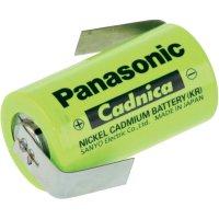 Akumulátor NiCd Panasonic Sub-C s pájecími kontakty, 1700 mAh