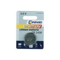 Knoflíková baterie Conrad energy CR2430, lithium