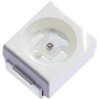 SMD LED PLCC2 Kingbright, KA-3528SECKT, 20 mA, 2,1 V, 120 °, 230 mcd, oranžová