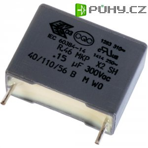 Foliový kondenzátor MKP Kemet R46KF310050P0K, 0,1 µF, 10 %
