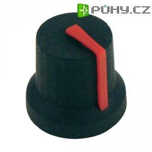 Otočný knoflík Cliff CL170842CR, pro sérii K87MBR, 6 mm, černá/červená