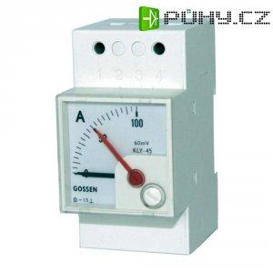 Analogový měřicí přístroj na DIN lištu GMW DQB 45H, MB 60 mV