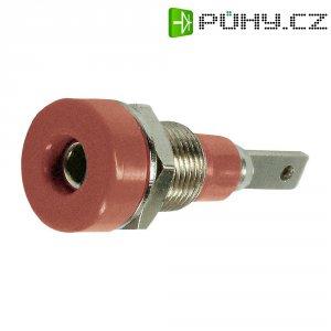 Laboratorní konektor Ø 2 mm MultiContact 23.0030-22, zásuvka vestavná vertikální, červená