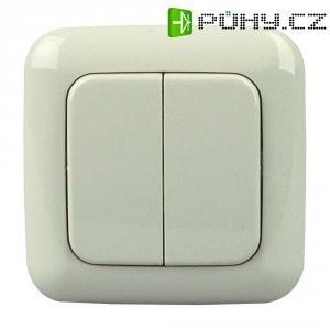 Bezdrátový nástěnný vypínač Standard 2/4 Free Control, 822801029, 2kanálový, krémová