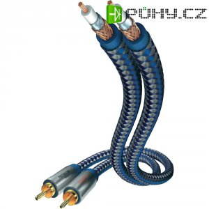 Kabel 2x vidlice cinch ⇒ 2x vidlice cinch, 1,5 m, stříbrný, Inakustik