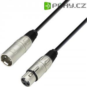 XLR kabel, XLR(F)/XLR(M), 1 m, černá