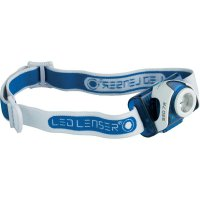 LED čelovka LED Lenser SEO 7R 6107-R, napájeno akumulátorem, 93 g, modrá