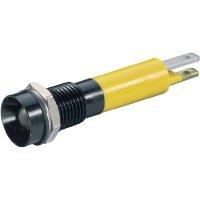 LED signálka Signal Con. SWUU08124, IP67, vnitřní refl., černý chrom, 24 V/DC, žlutá