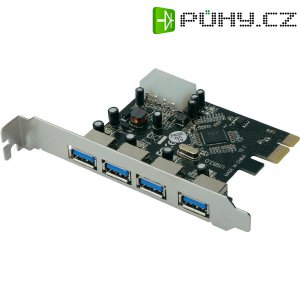 PCI karta ⇒ 4x port USB 3.0, Digitus