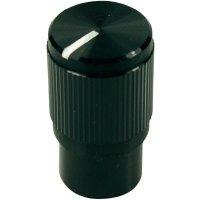 Otočný knoflík Cliff FC7259, pro sérii KMK10E, 6 mm, s drážkováním, černá
