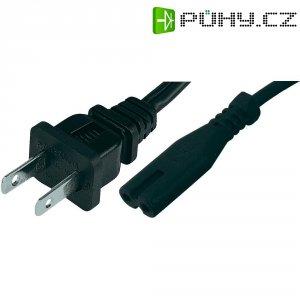 Síťový kabel Hawa, 1008267, zástrčka (USA) ⇔ zásuvka C7, 1,8 m, černá