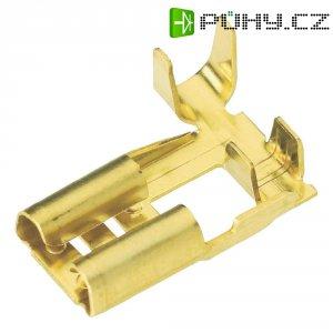 Faston zásuvka Vogt Verbindungstechnik 3764W.60 2.8 mm x 0.5 mm, 90 °, bez izolace, kov, 1 ks