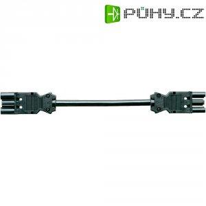 Propojovací kabel, 3pólová zásuvka, zástrčka, 1 m, černá, 99.400.6046.6
