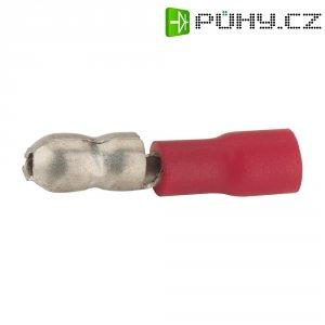 Kulatá zástrčka Vogt 3920S, 0,5 / 1 mm², Ø: 4 mm, červená