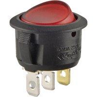 Kolébkový spínač s aretací SCI R13-208B-02 RD, 250 V/AC, 10 A