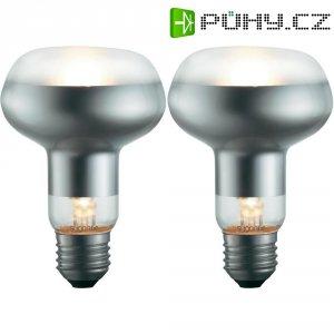 Halogenová žárovka Sygonix, E27, 70 W, 116 mm, stmívatelná, teplá bílá, 2 ks