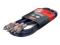 Stagg STC3C, kabel 2x RCA/2x RCA, 3 m