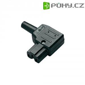Úhlová síťová IEC zásuvka C15A Kaiser, 250 V, 10 A, černá, 792/sw/C