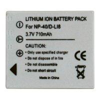Li-Ion akumulátor pro videokameru FUJI NP-40, 3,7 V, 600 mAh, tmavě šedá