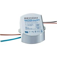 LED zdroj konst. proudu Recom Lighting RACD20-1050/277, 21000175, 1050 mA, 19 V