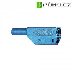 Lamelový konektor Ø 4 mm MultiContact 22.2657-23, zástrčka rovná, modrá