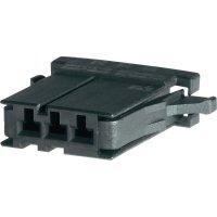 Pouzdro D-3100S TE Connectivity 1-178288-6, zásuvka rovná, 250 V, 3,81 mm, černá