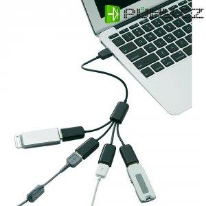 USB 2.0 hub kabel 30 cm, 4-portový