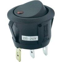 Kolébkový spínač s aretací 28430C603, 250 V/AC, 6 A